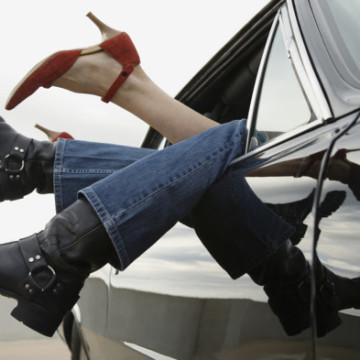Man and woman in car --- Image by © Steve Hix/Somos Images/Corbis